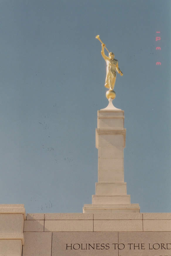 Close up of Angel Moroni
